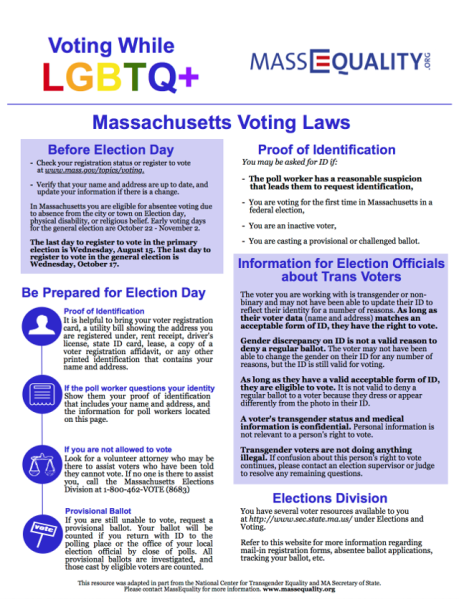 MassEquality Guide to Voting While LGBTQ+
